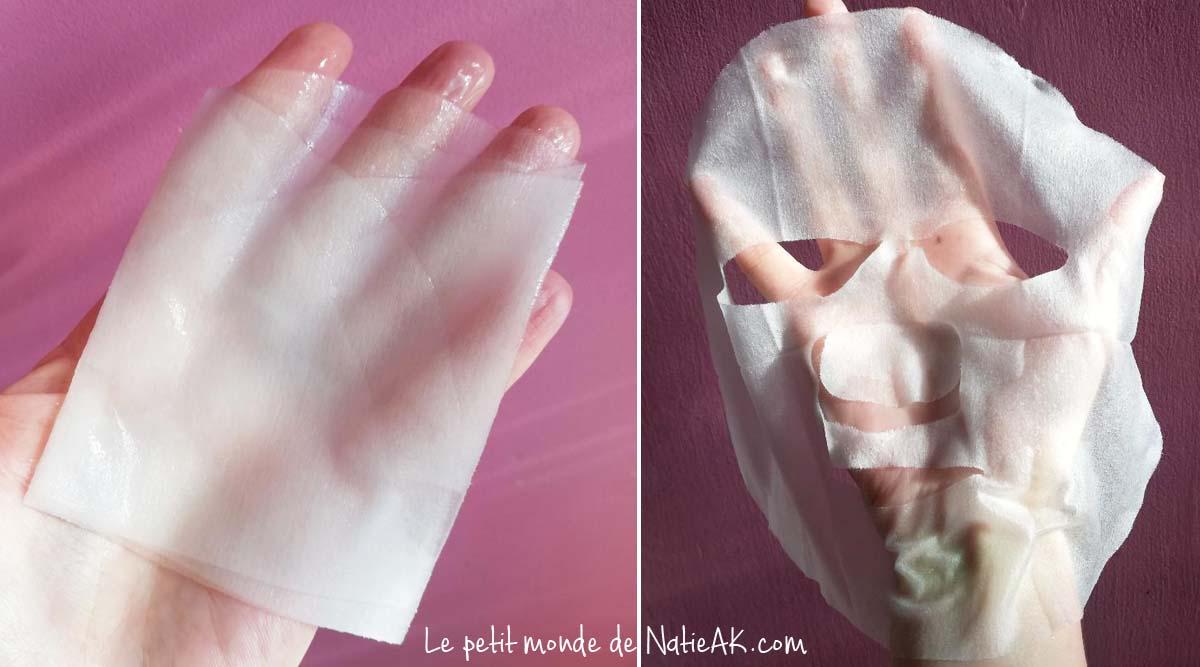 test de masques en cellulose végétale