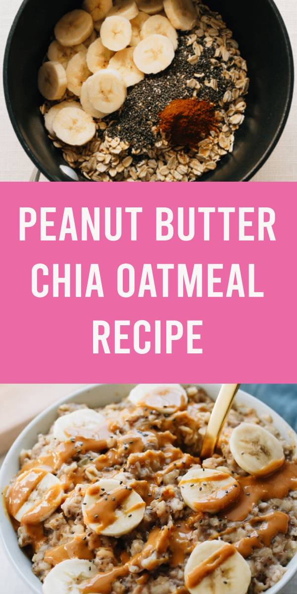 The ultimate healthy breakfast recipe, this peanut butter banana oatmeal is creamy, voluminous and will keep you full all morning long! Plus it only takes about 10 minutes to make. #healthybreakfast #breakfast #peanutbutter #oatmeal