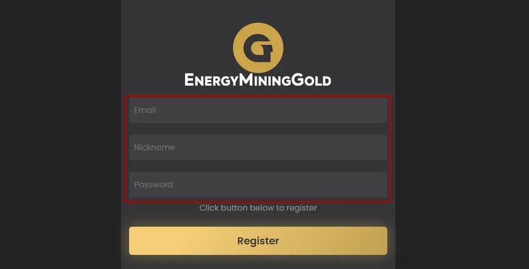 Регистрация в Energy Mining Gold