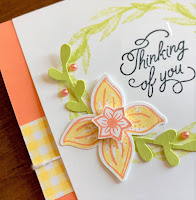 Stampin' Up! Pop of Petals + Treat Time Card for #GDP181 ~ www.juliedavison.com