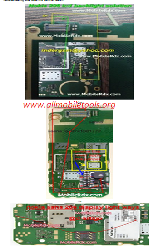 Nokia 206 Lcd Light Problem Solution With Jumper