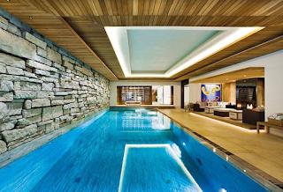 kolam renang batu alam elegan
