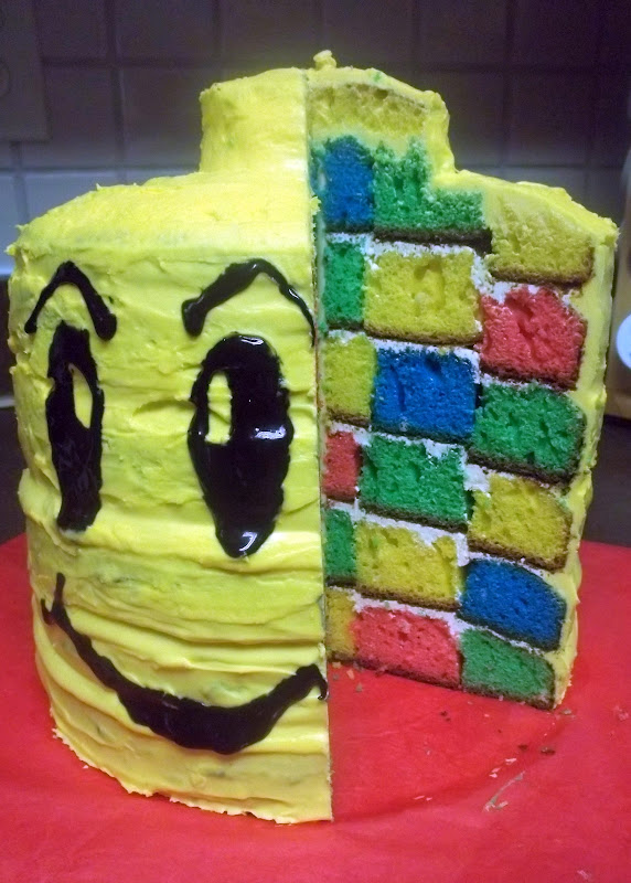 Just About Life 6 Layer Lego Brick Cake