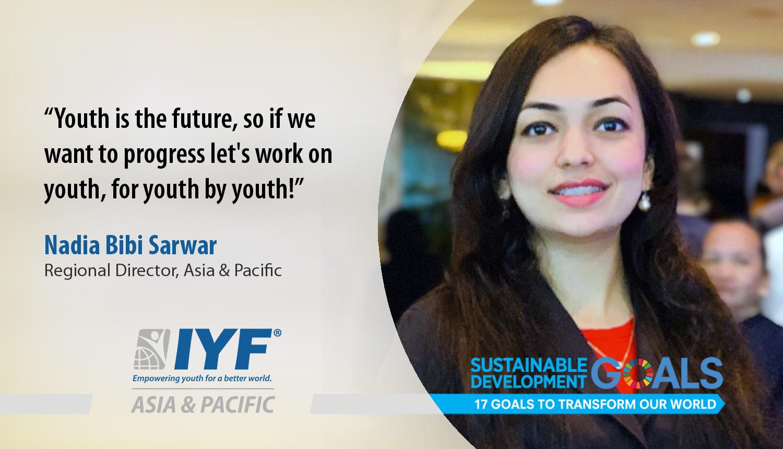 Nadia Bibi Sarwar, IYF Regional Director, Asia & Pacific