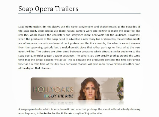 exploring soap operas essay Soap operas have been described as modern myths through which meaning is inscribed  exploring new femininities  this essay will discuss the most prominent.