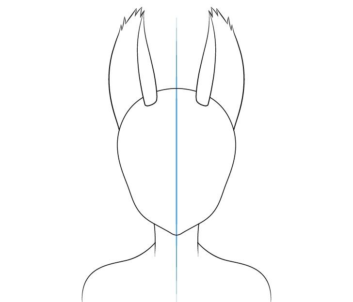 Gambar telinga gadis serigala anime