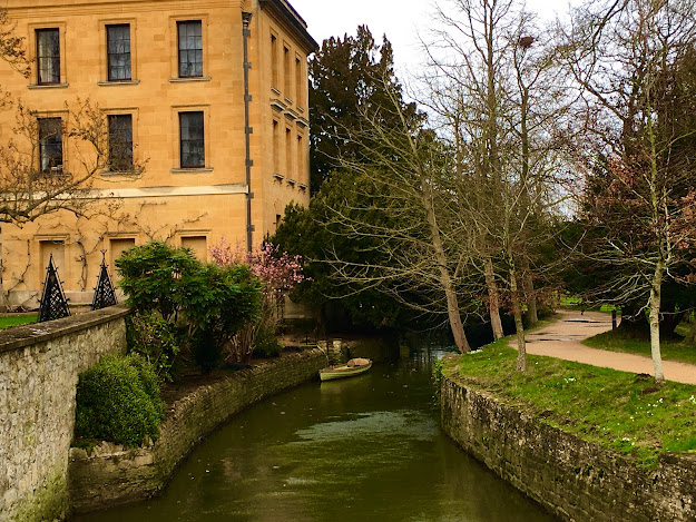 Picture of a river in Magdalen College, Oxford