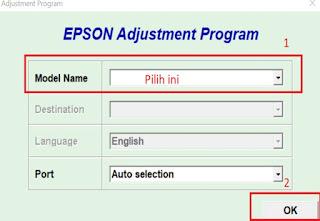 Resetter Printer Epson Tipe L220