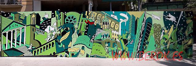 Street art Daniel Torres artista cómic