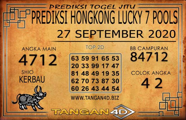 PREDIKSI TOGEL HONGKONG LUCKY 7 TANGAN4D 27 SEPTEMBER 2020