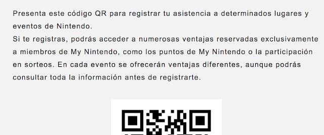 My Nintendo añade un código QR para registrarte en eventos y ganar premios
