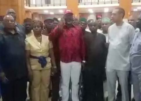 ''Adams Oshiomole collecting signatures of APC senators to effect the impeachment of Saraki'' Dino Melaye