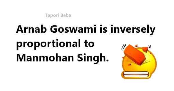 manmohan singh and arnab goswami joke