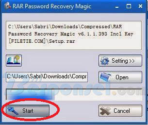 cara bobol password zip rar dengan aplikasi reacovery magic