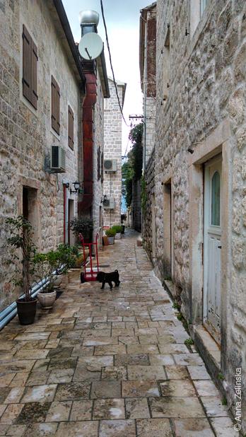 Симпатичная улочка, Пераст, Черногория