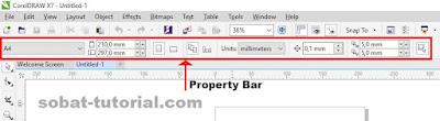Cara Menampilkan Property Bar CorelDraw