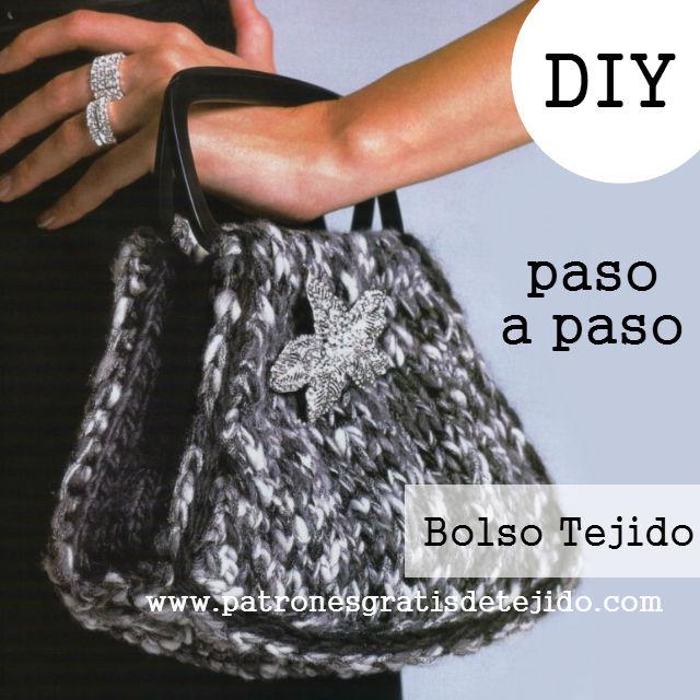 tutorial sencillo de bolsa tricot