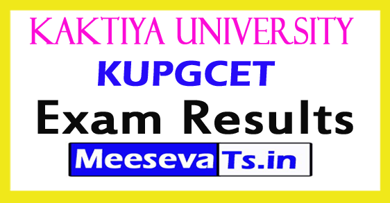 Kaktiya University PGCET Results 2017