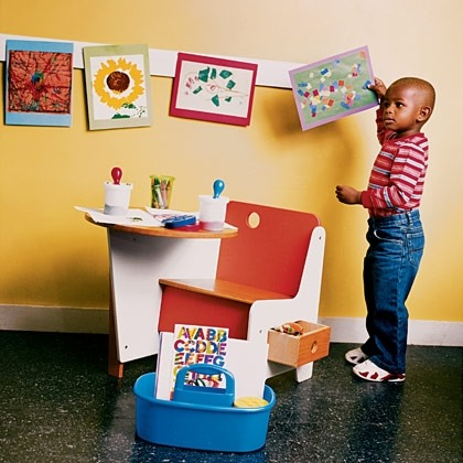Toddler Art Project - Off-the-Wall Art Strip