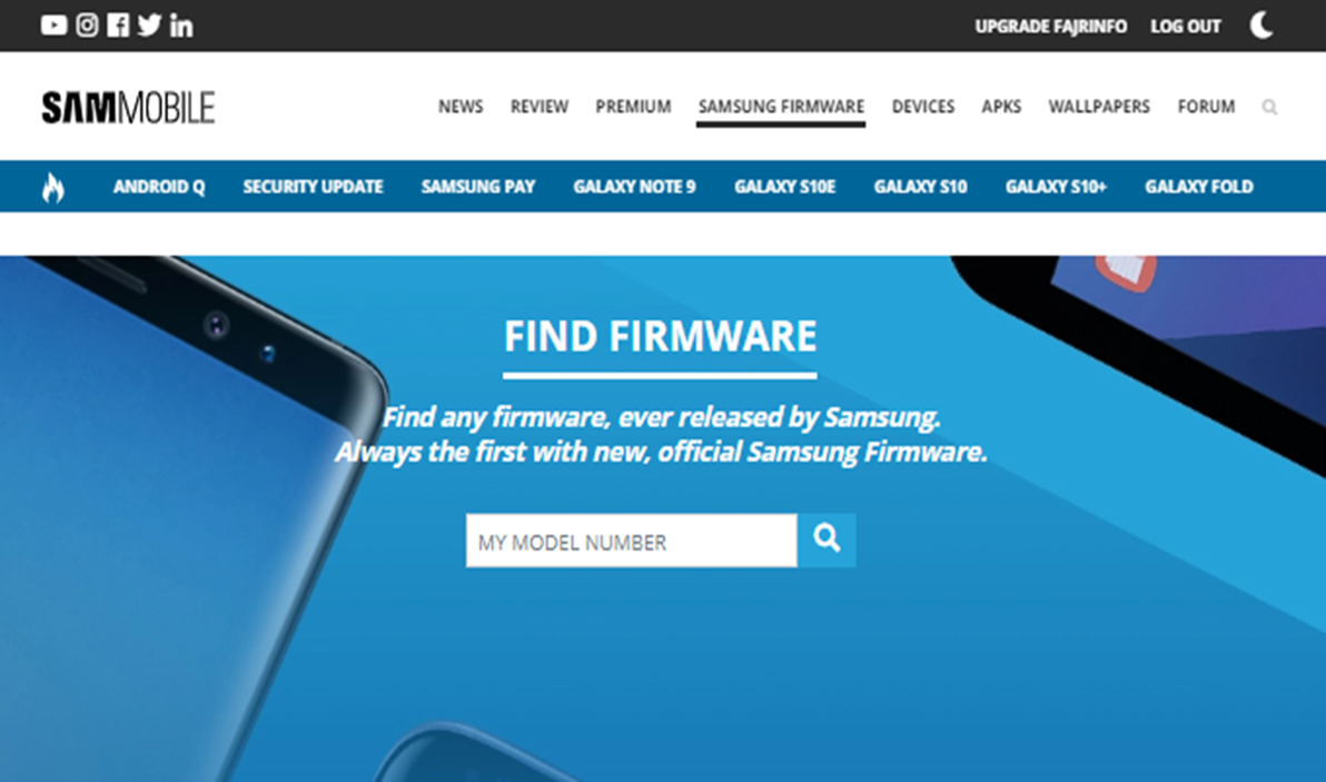 Cara Mudah Download Firmware Samsung Android Di Website Sammobile
