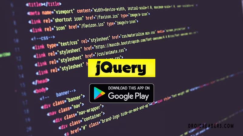 jQuery Tutorial - Free Android App
