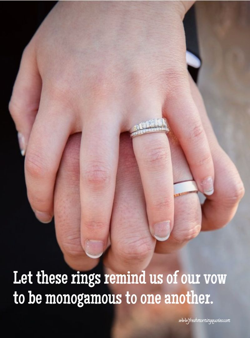 let thing ring be the reminder of our love