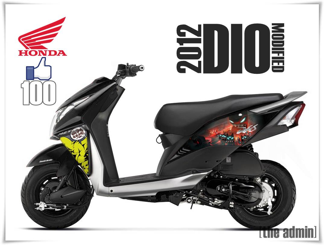 Here are some modified honda dio 2012 photos please wait we will add more pictures