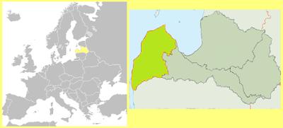 Mapa Letonia Kurzeme
