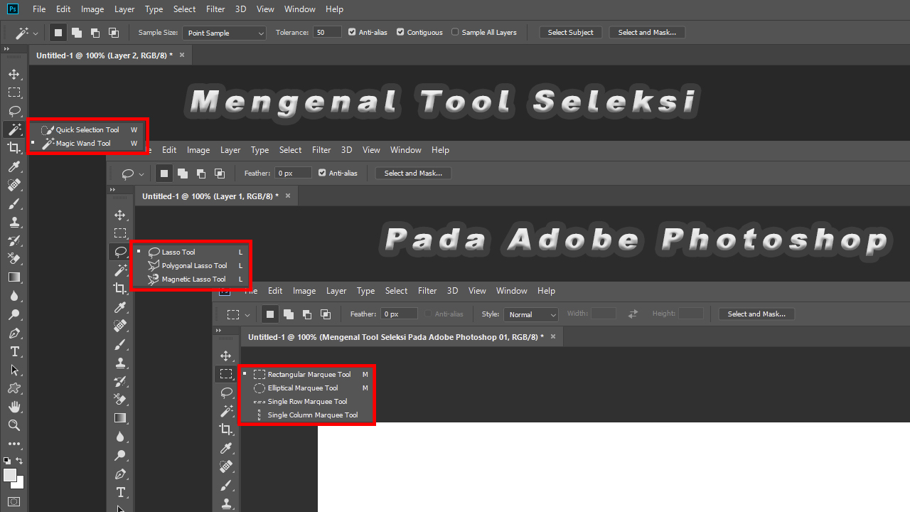 Mengenal Tool Seleksi Pada Adobe Photoshop