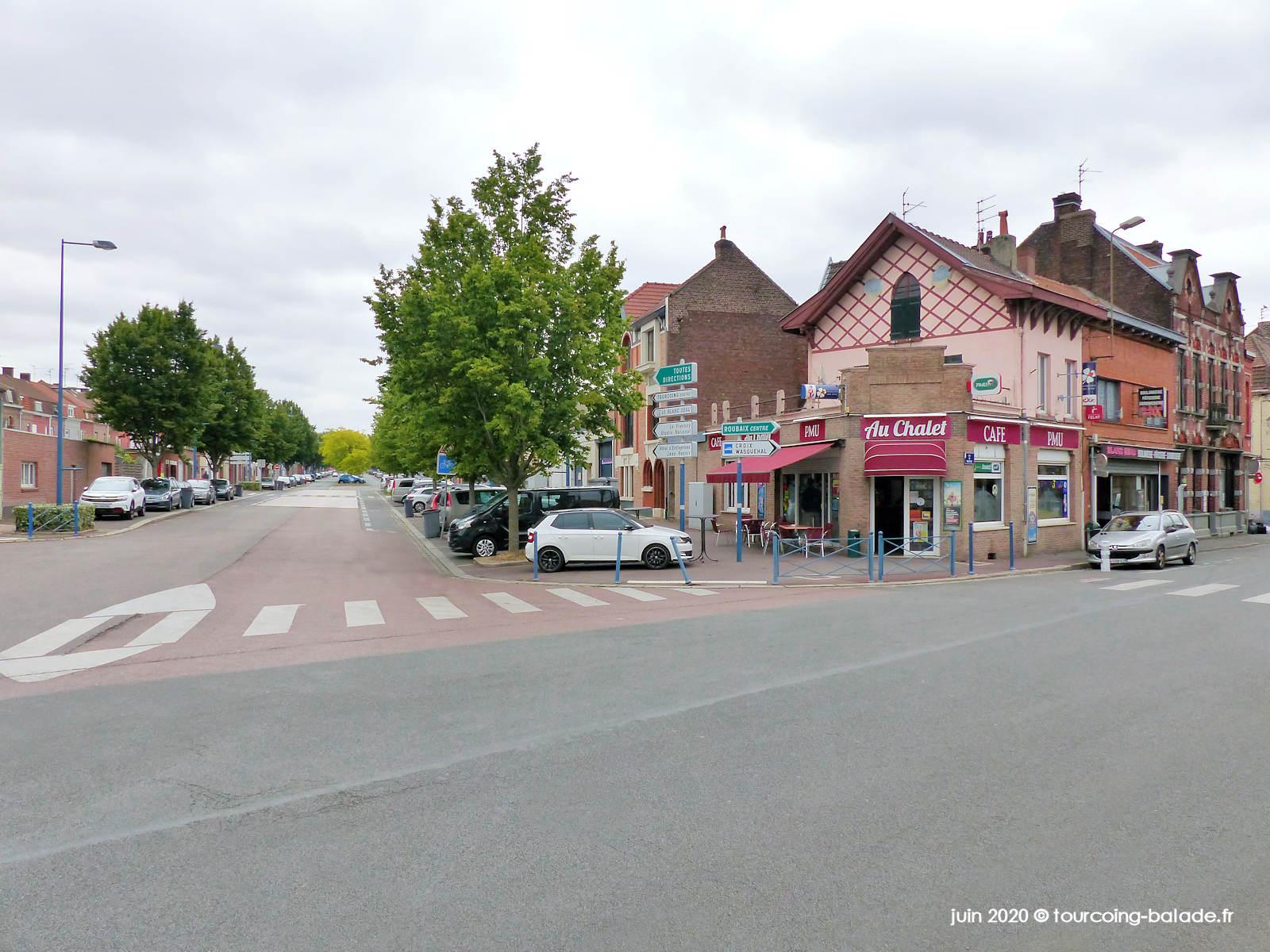Rue de Mouvaux et Bd Descat, Tourcoing 2020
