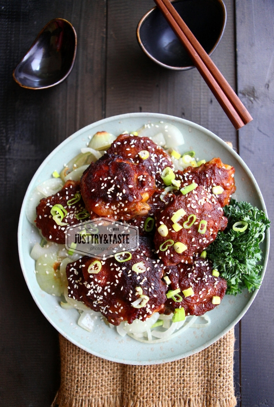 Resep Spicy Korean Chicken Bulgogi (Oven-Baked) JTT