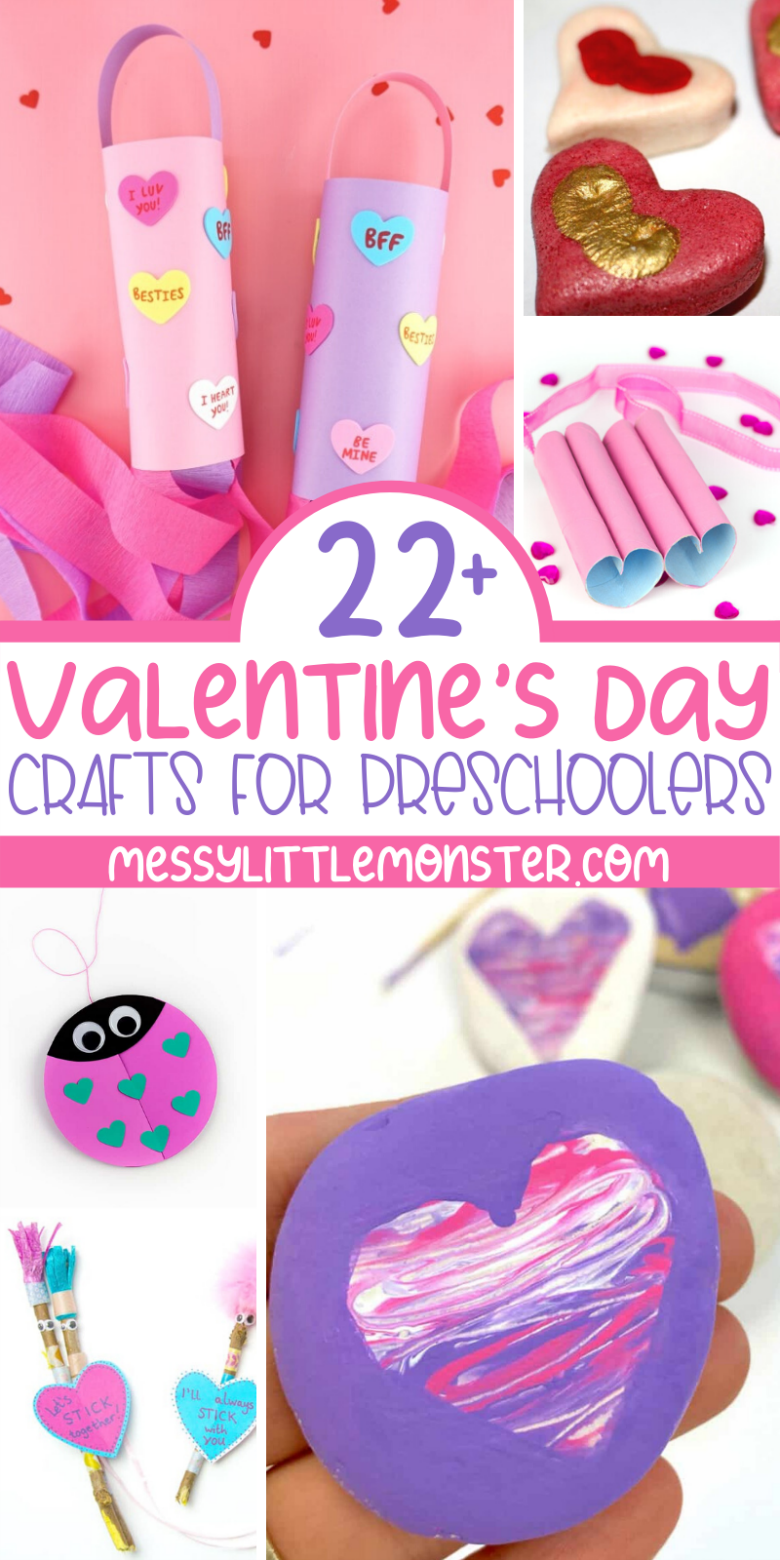 22+ preschoool Valentine crafts. Easy and cute Valentine's Day crafts for preschool.