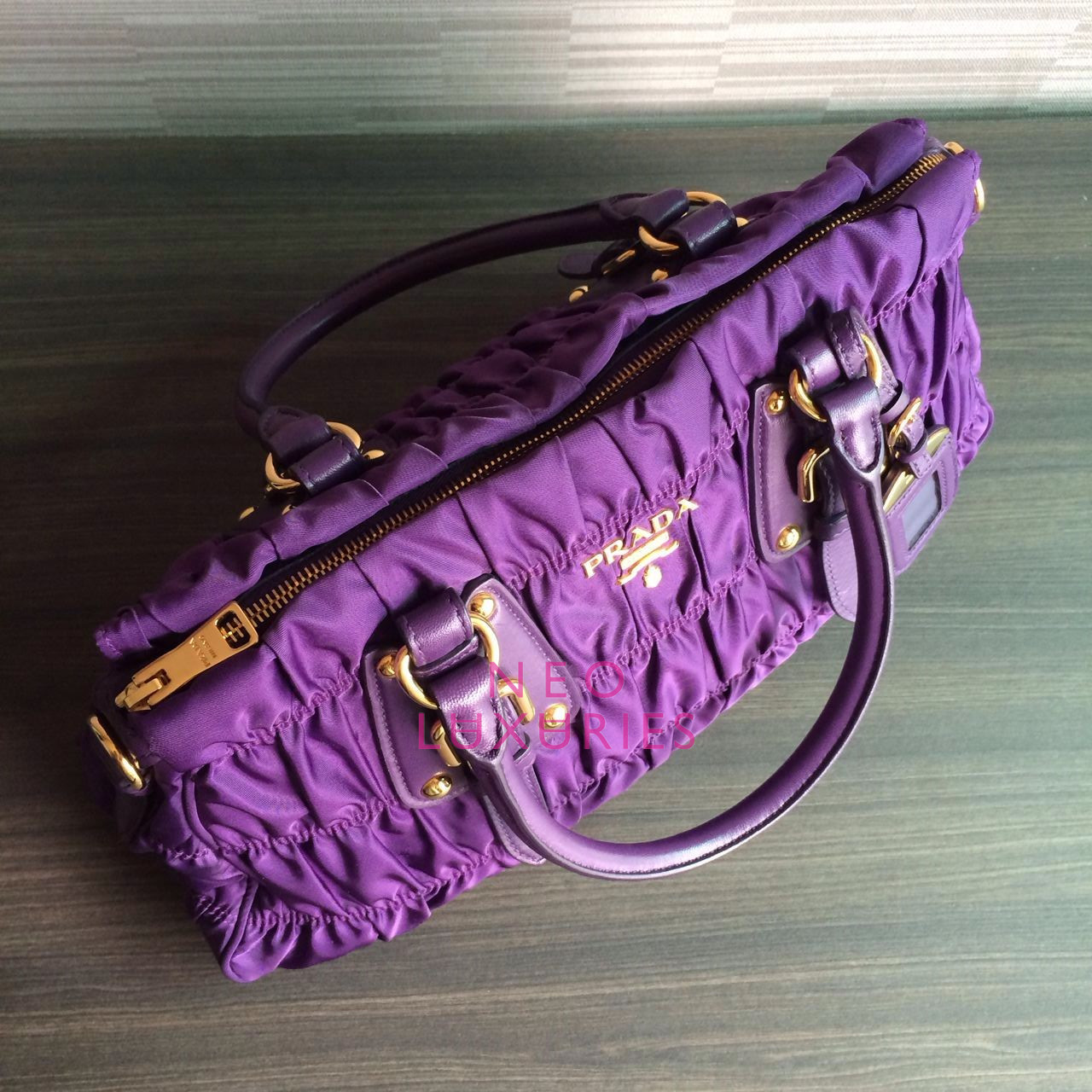 prada lime green purse - Neo LUXuries: SOLD: PRADA Tessuto/Nappa Gaufre' Small Top Handle ...
