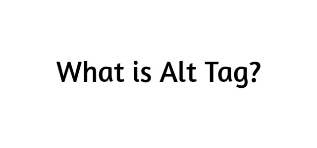 What is Alt Tag