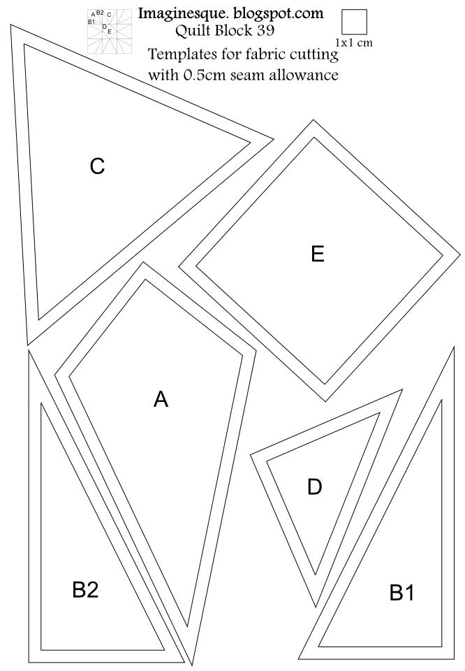Imaginesque: Quilt Block Pattern 39: Pattern&Templates