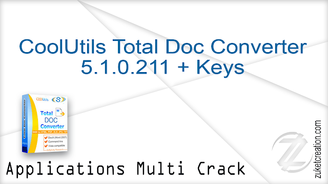 CoolUtils Total Doc Converter 5.1.0.211 + Keys    |   26 MB