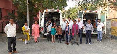 जालौन: हार्ट सर्जरी के लिए पहली बारसरकारी एंबुलेंस से अलीगढ़ भेजे गए बच्चे आरबीएसके की टीम ने खोजे थे बच्चे, सभी का होगा निशुल्क उपचार