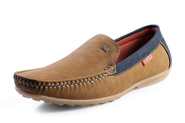 Red Rose Men's Blue Loafer Shoes