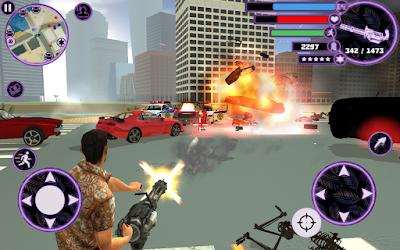 لعبة الجريمة و المغامرات Vegas Crime Simulator 2 مهكرة للاندرويد