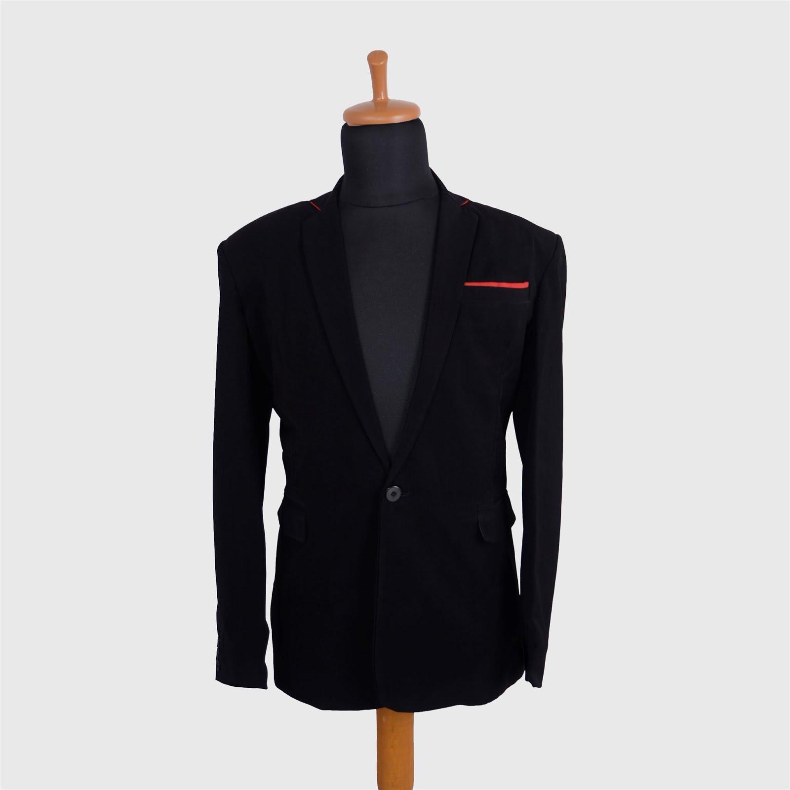 blazer list merah bk-03