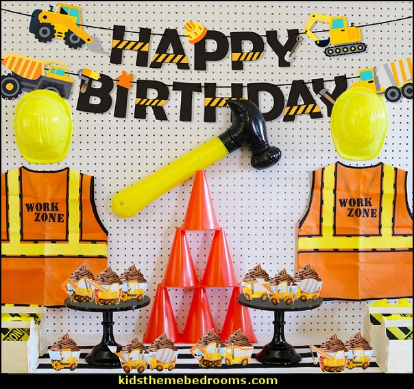 Construction Birthday Party Cupcake Wrappers Toppers  Construction party ideas - construction party decorations - digger construction party props - Dump Truck Party Decorations - crane construction theme party - work truck decorations - Digger Zone Boys Birthday Party -