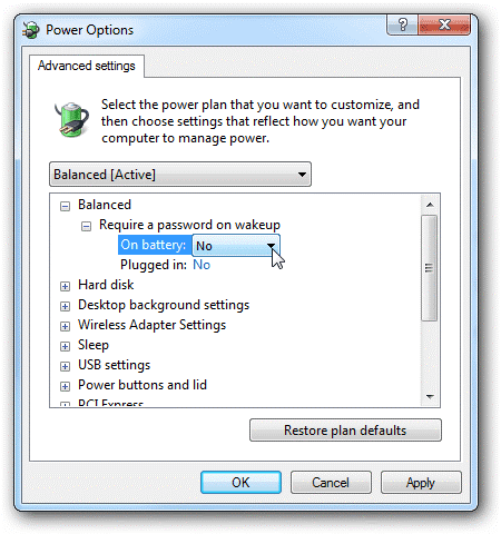 Tắt mật khẩu đăng nhập Windows Vista