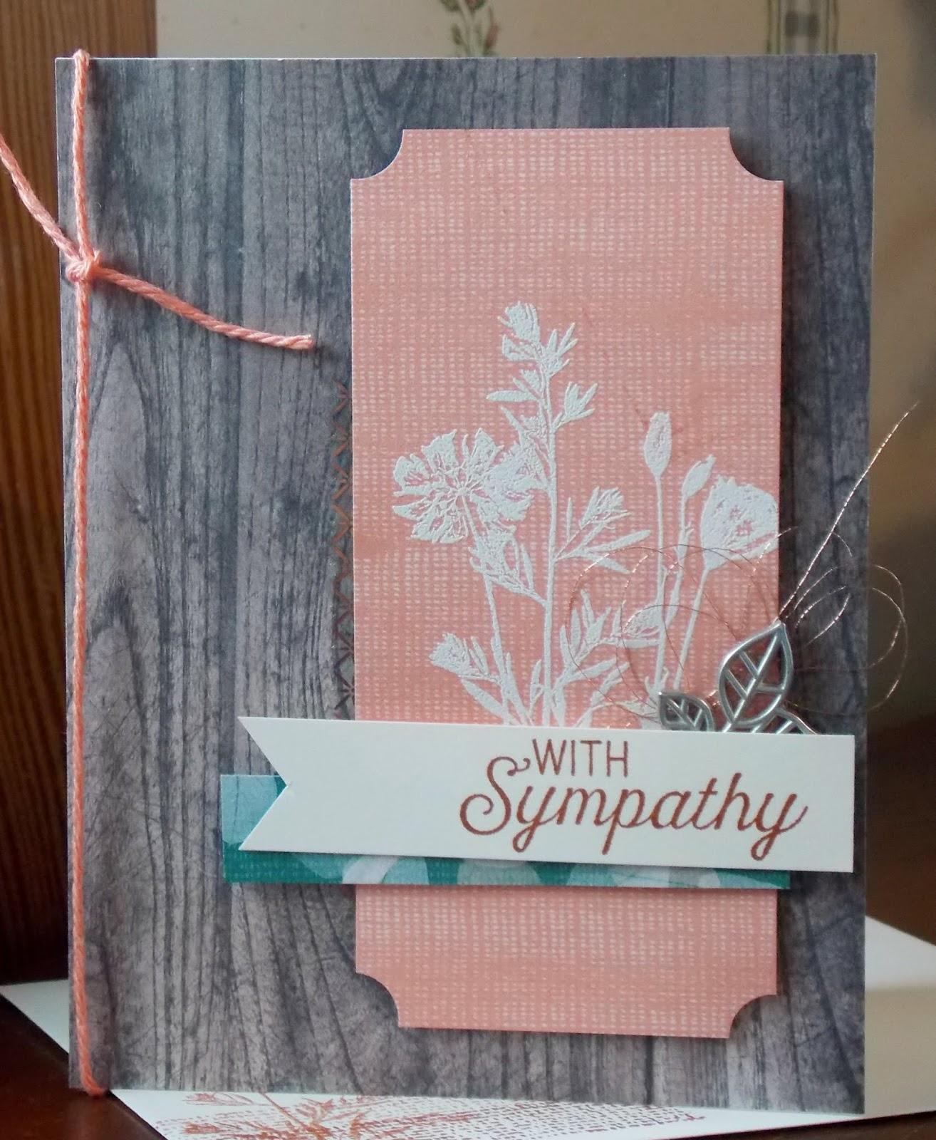 Lauras Works Of Heart Pressed Flowers Card