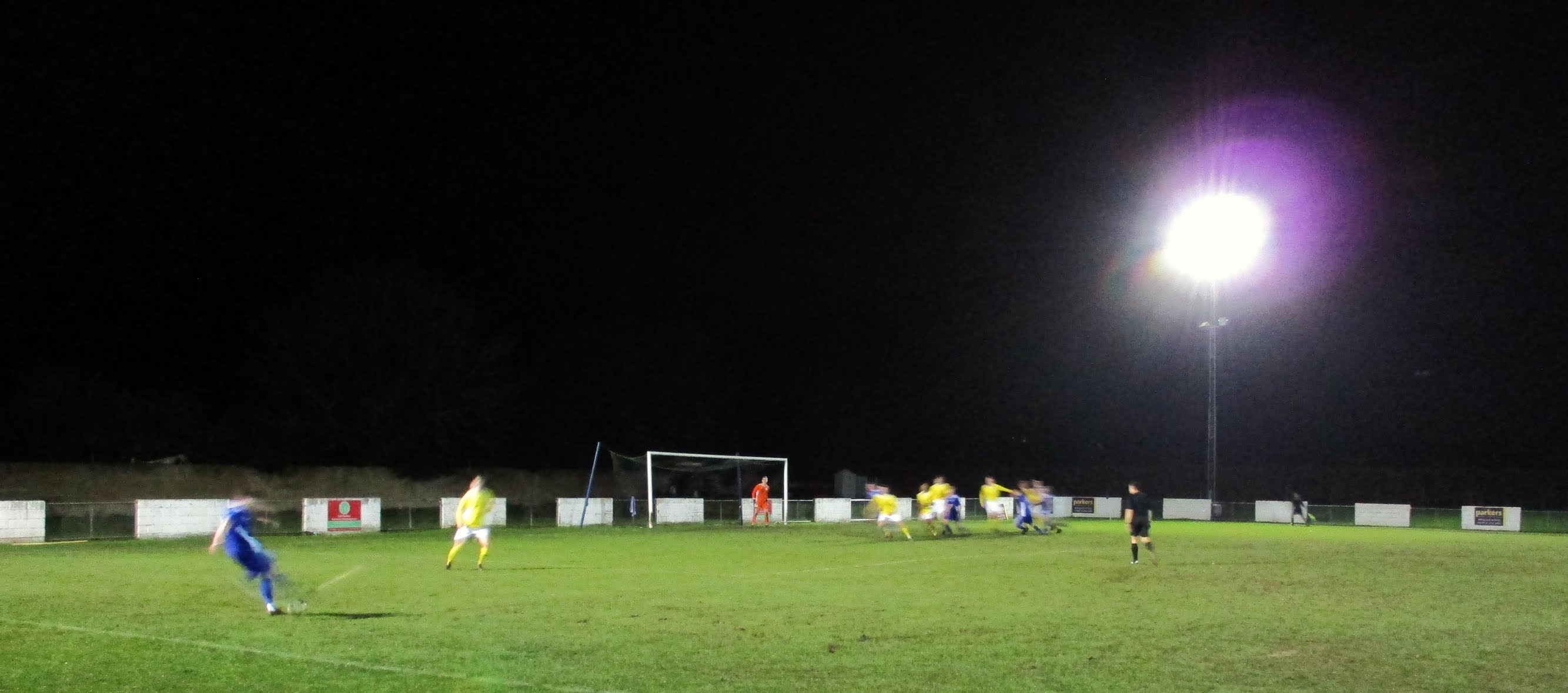 A Reading City free kick at The Rivermoor Stadium
