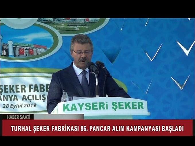 TURHAL ŞEKER, İŞİNİN EHLİNDEDİR  VARLIK FONUNDAN KAYSERİ ŞEKER'E ÖVGÜ