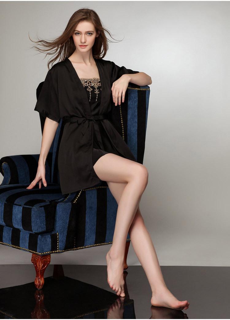 Áo choàng kèm váy lụa cup ngực cao cấp 8
