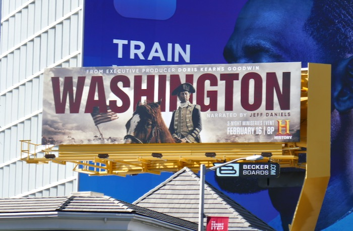 Washington miniseries billboard