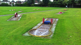 Crazy Golf course at Rowley Park Stadium in Stafford