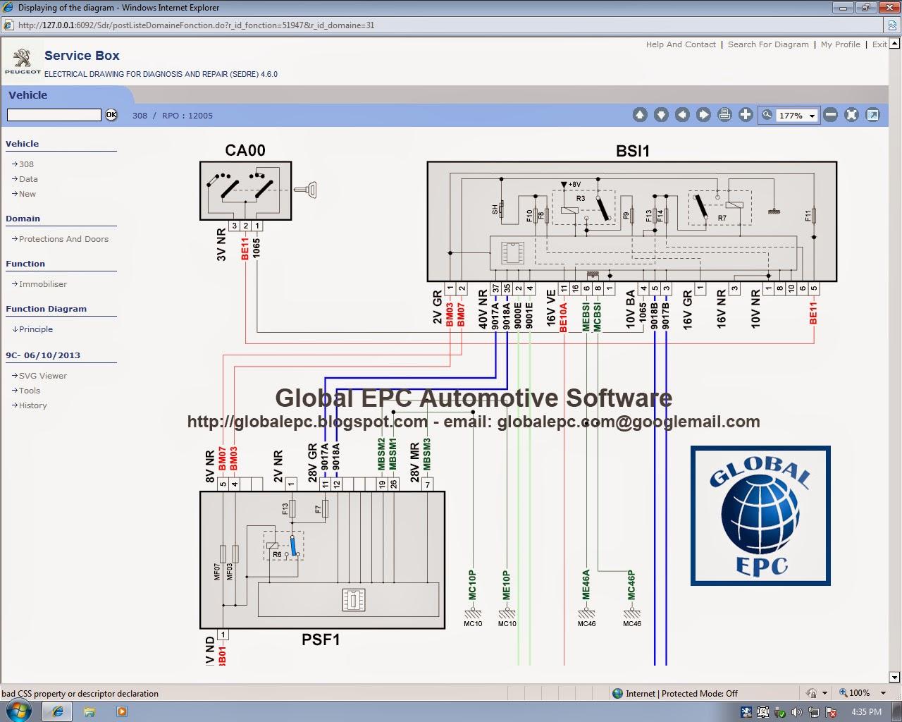 global epc automotive software: peugeot service box 11.2013 epc