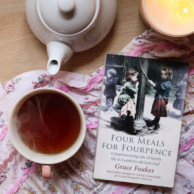 Book Flat Lay - Four Meals for Fourpence by Grace Foakes